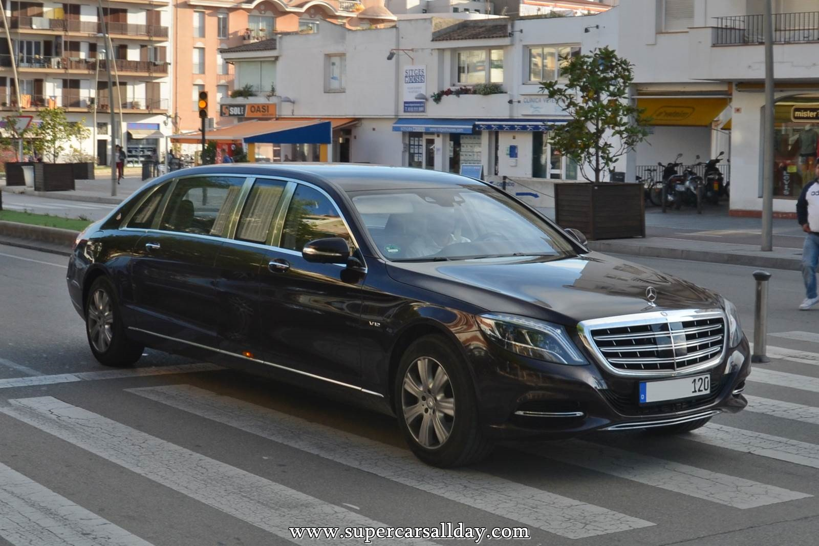 Mercedes maybach s600 pullman supercars all day exotic for Mercedes benz guard for sale