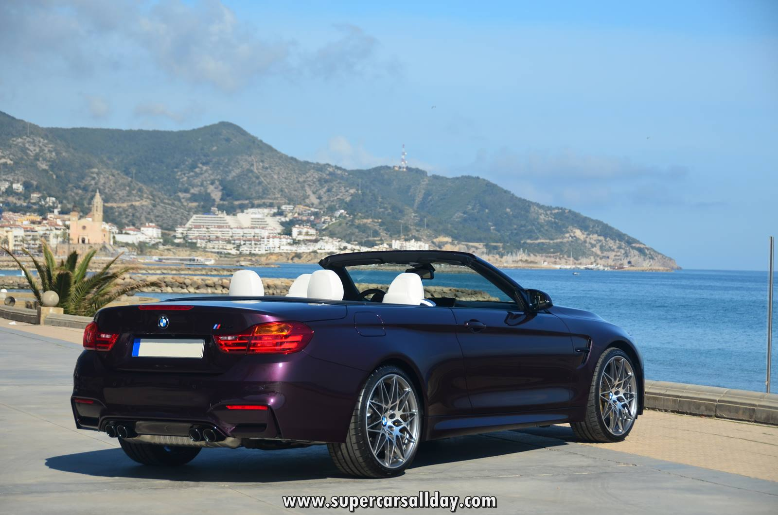 Bmw M4 Convertible Purple Silk Supercars All Day Exotic Cars Photo Car Collection