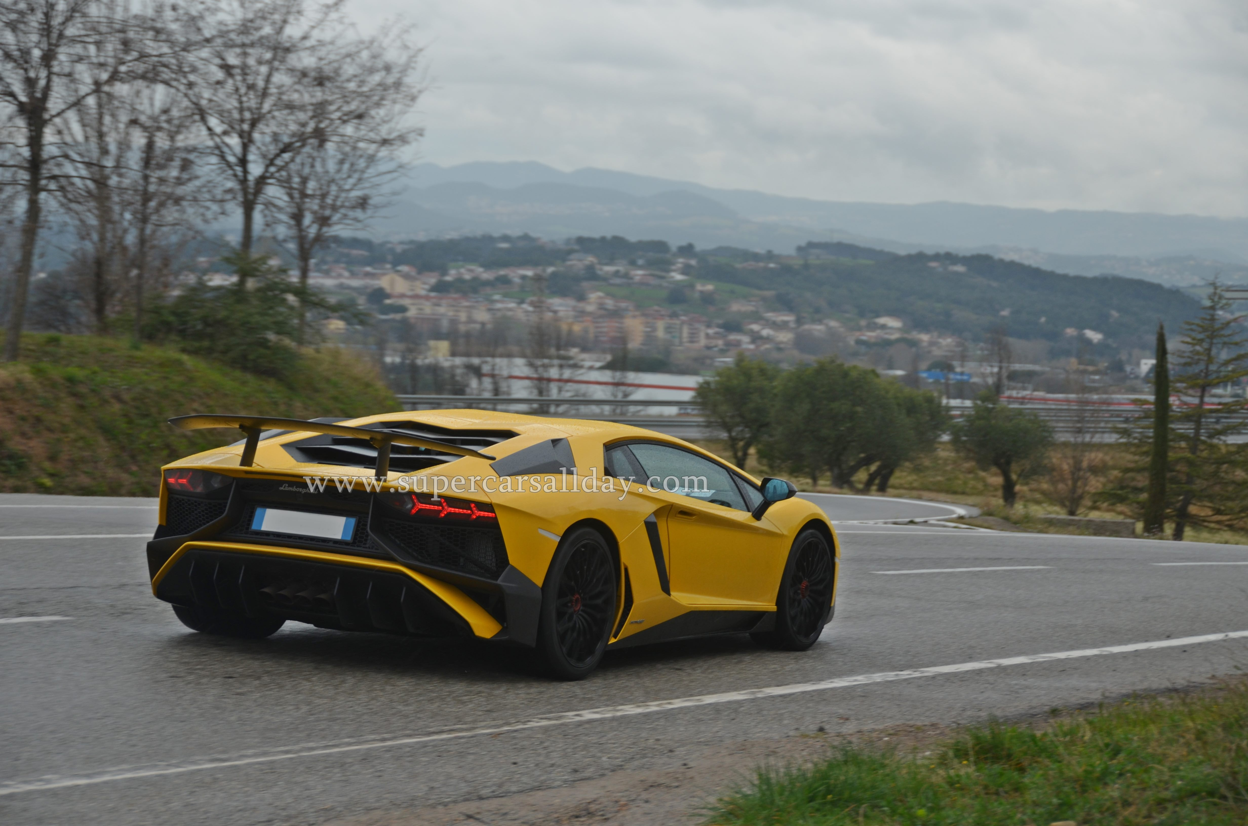 Lamborghini Aventador Lp750 4 Sv Spotted On The Road