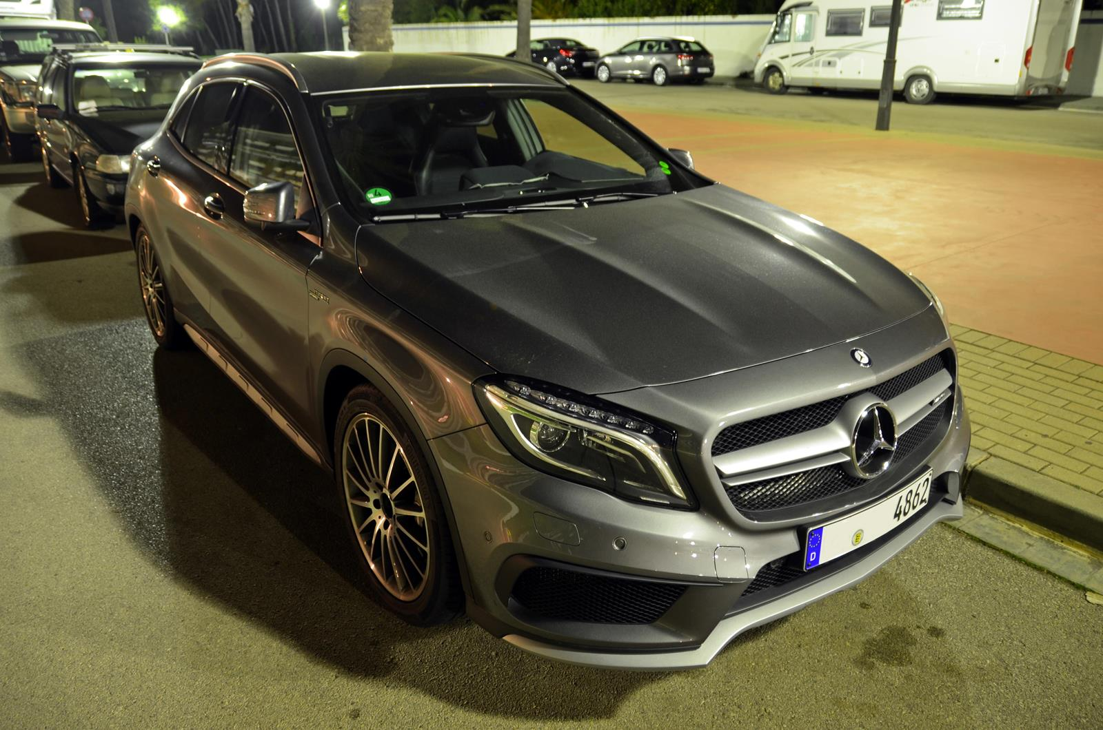 Mercedes benz gla 45 amg grey supercars all day for Mercedes benz all cars